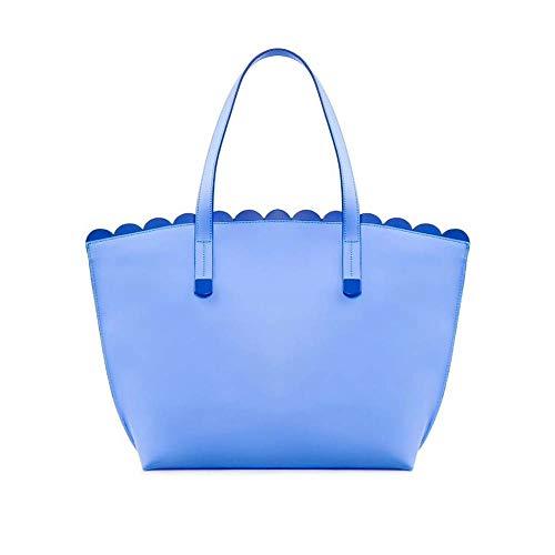 Tosca Blu , Damen Henkeltasche Blau himmelblau b24xl11xh25cm