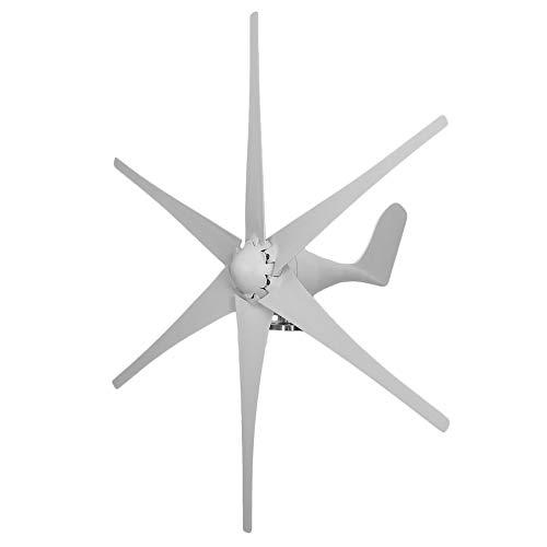 lOOkME-H Wind Turbine Windmill Generator Wind Energy Renewable Kit 6 Blades 500Watt 12V Marine, rv, Homes, Businesses and Industrial (White - 12V) (Best Marine Wind Generator)