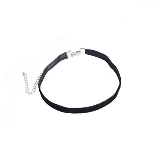 Clearance Sale! Cheap Choker,Leewos Women Charm Lace Necklace Chains Black (Black)