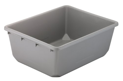 Akro-Mils 34240 Plastic Tote Tub, 24-Inch by 19-Inch by 9-Inch, Case of 6, Grey