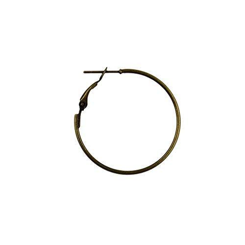 Flameer 20pcs 50mm Round Beading Hoop Loop Leverback Earring Findings - Bronze ()