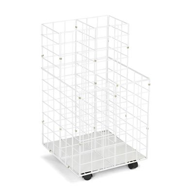 Wire Roll Files, Four Compartments, 16-1/4w x 16-1/2d x 30-1/2h, White, Sold as 1 (Safco Wire Roll File)