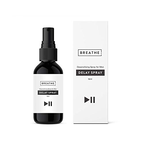 BREATHE Desensitizing Spray para Hombres | Botella grande de 15 ml | Mayor duracion | Botella de bolsillo