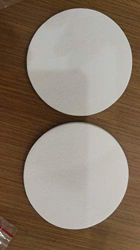 12 Synthetic Filter Discs 90mm for a Buchner Funnel and Cut