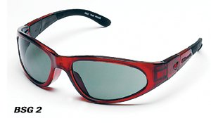 - BSG-Black Frame with Crimson Red lens includes 2 extra 2.0mm anti-fog lens Lt.Rust,Clear,Strap, Arms,Case,Cleaning cloth, removeable Gasket,case