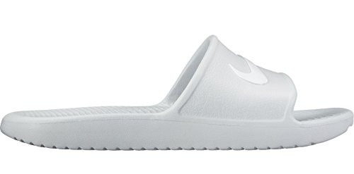 Cheap NIKE Women's Kawa Shower Slide Sandals, Pure Platinum/White, 10