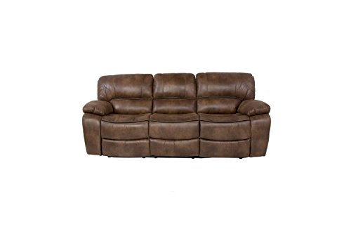 Sunset Trading SU-AC1003-11 Snuggle Up Dual Reclining Sofa, Camel