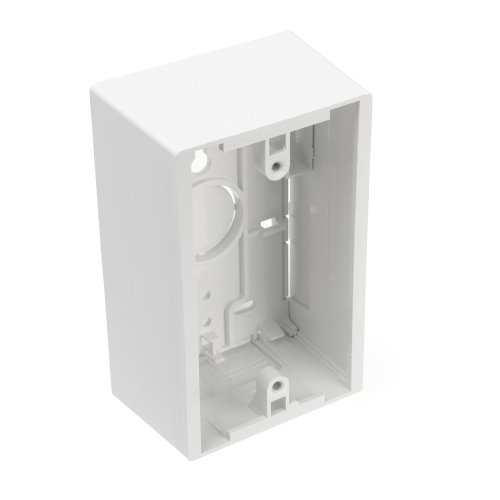 Leviton 42777-1WA Surface Mount Backbox, Single Gang, White, (Single Gang Outlet Box)