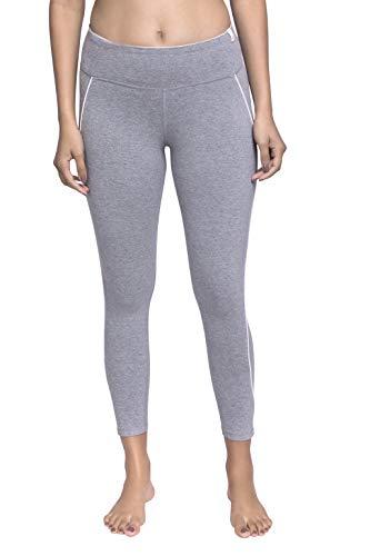 Satva Organic Cotton Yoga Capri Crop Pant with Hidden Pocket from Surya Capri, Heather Grey, Medium