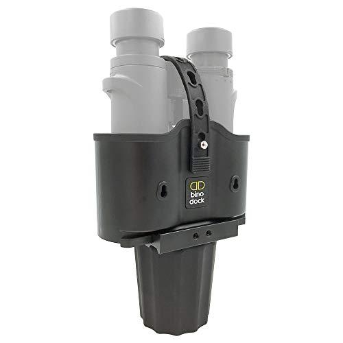 BINO DOCK Binocular Holder - Fits Any Cup Holder/Vehicle, Adjustable