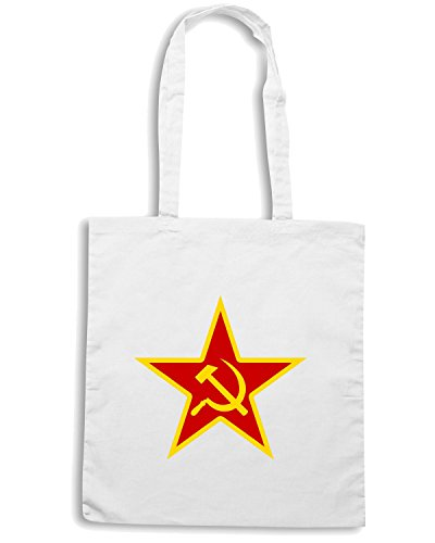 T-Shirtshock - Borsa Shopping TCO0152 stella-comunista Bianco