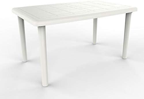 resol Mesa de jardín Exterior Rectangular Olot 140x90 - Color Blanco: Amazon.es: Bricolaje y herramientas