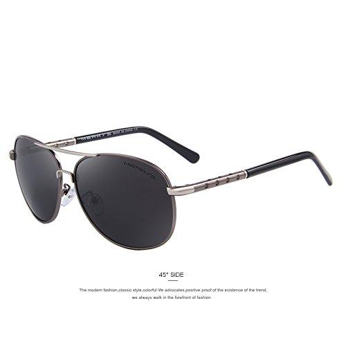 Gray revestimiento tonalidades Gris de polarizados TIANLIANG04 Guía de de Gafas EMI defender clásico lentes sol hombre C04 aluminio C04 wax6Uvqzw