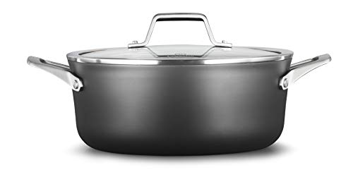 Calphalon 2029619 Premier Hard-Anodized Nonstick 5-Quart Dutch Oven with Cover, Black