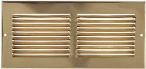 """30"""" X 8"""" Brass Cold Air Return Vent Cover / Grille"""
