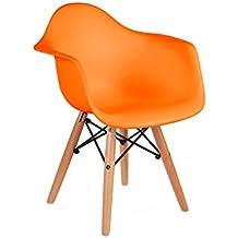 Kids Eames Style DAW Chair   Orange