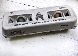 Egg Cartons- Printed Recycled Egg Carton, Bulk 250 Egg Cartons per Bundle, Attractive Farm Fresh Design w/FDA reqs, One Dozen Eggs, Recycled Paper Pulp Cardboard, Small Medium Large & XL Eggs by Henlay (Image #5)