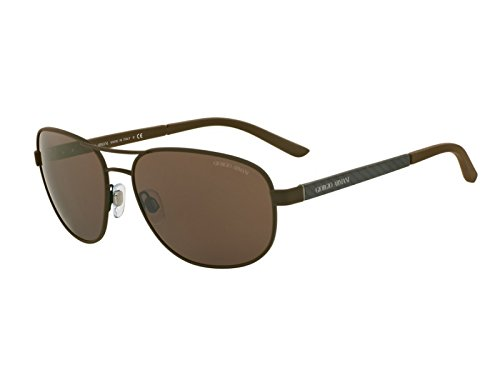 Giorgio Armani  Men's 0AR6036 Matte Brown - Aviator Sunglasses Giorgio Armani