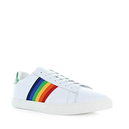 Herren Sneakers SNM000506500449M243 Leder Weiss DSQUARED2 7ZwqTx6BB