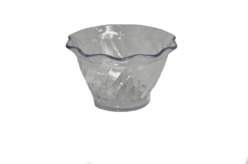 Dinex DXSWC507 SAN Tulip Swirl Cup, 3-3/4