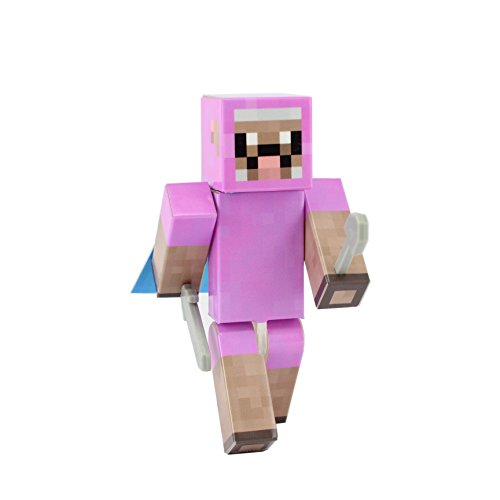 [Pink Sheep Action Figure Toy, 4 Inch Custom Series Figurines by EnderToys] (One Up Mushroom Costume)