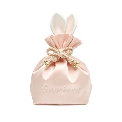 LULAN Kleine Lady beam Taschen Kordelzug Kosmetik Zulassung Paket niedlichen Kaninchen Make-up Bag portable Mini-, 15*7*20 cm, Rosa