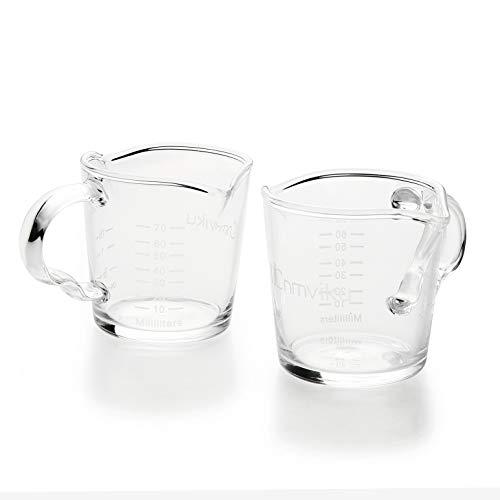 Espresso Shot Glass 3OZ Triple Spout Barista Shot Pitcher Double Spouts Convenient Pouring Handle By BCnmviku (2)