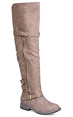 Amazon.com | Twisted Women's Layla Wide Width/Wide Calf Over the ...