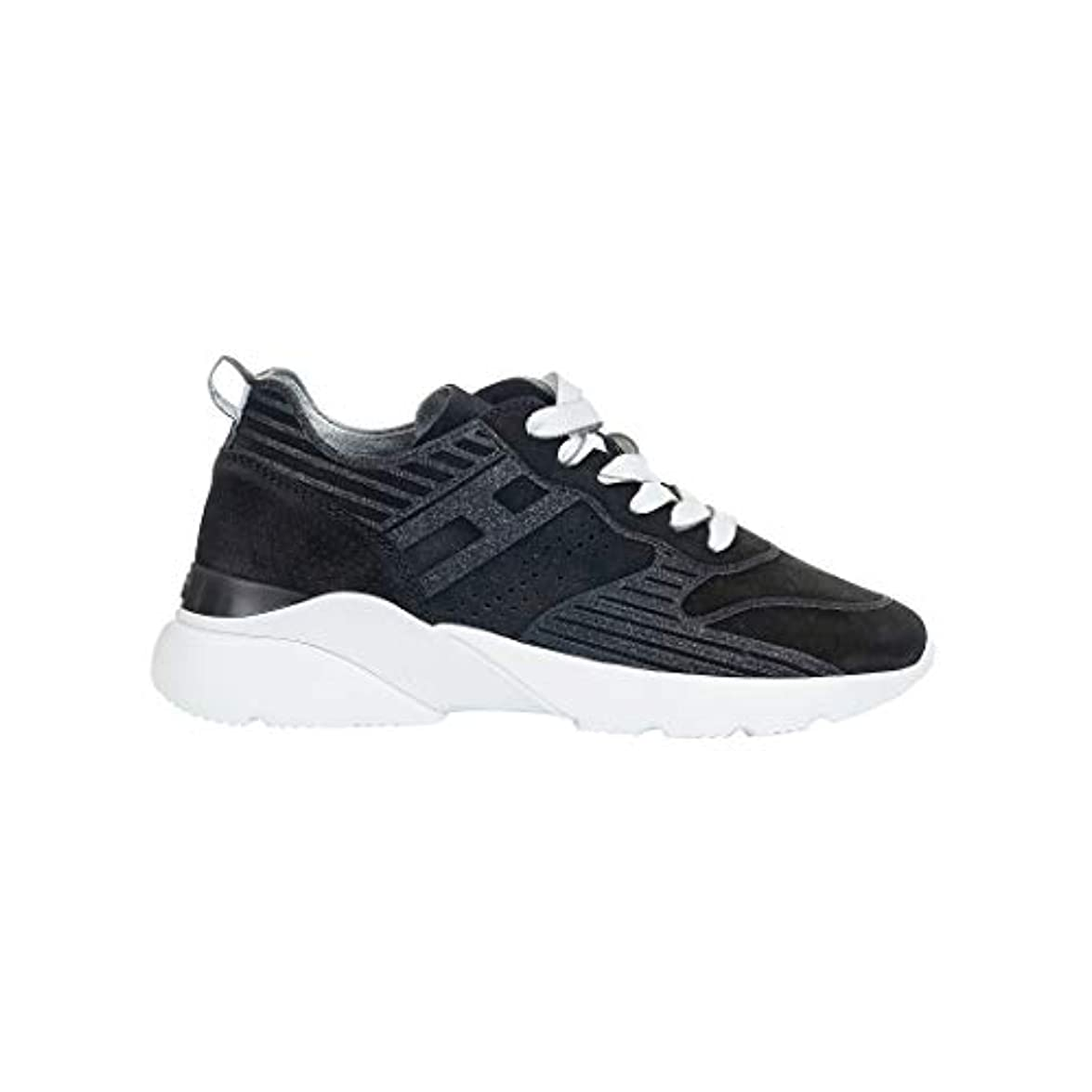 Hogan Hi Top Sneakers Donna Hxw3850bm40ffy0353 Camoscio Nero