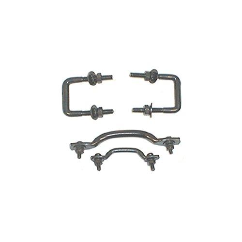 Steel Windshield Parts - Rugged Ridge 11211.01 Black Steel Windshield Tie Down Kit - 4 Piece