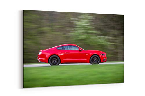 Mustang Fastback Coupe - Ford Mustang Gt Fastback EU Spec Coupe Cars 2015 - Canvas Wall Art Gallery Wrapped 12
