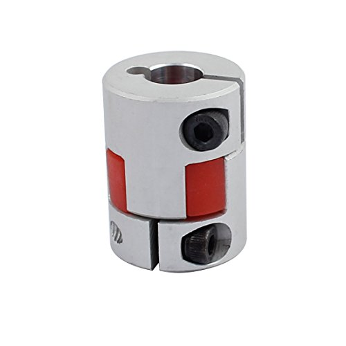 - uxcell 6mm to 10mm Shaft Coupling 30mm Length 25mm Diameter Motor Coupler Aluminum Alloy Joint Connector for DIY Encoder