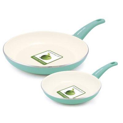 Soft Grip 2-Piece Ceramic Non-Stick Frying Pan Set