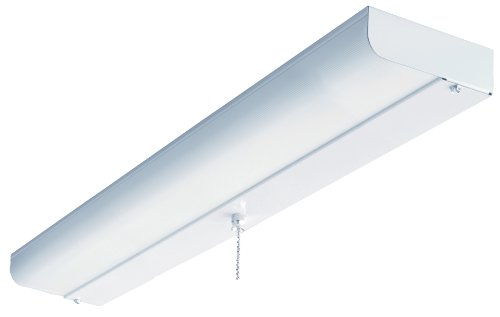 Lithonia Lighting CUC8 17 120 LP S1 M4 24-Inch 1-Light Flush Mount Fluorescent Ceiling Closet Light, White ()