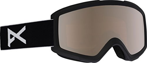 Anon Helix 2 Goggle with Spare Lens, Black Frame Silver Amber Lens W20