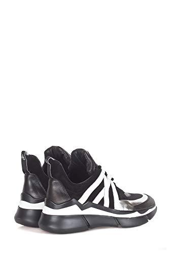 Donna Nero E1700black Pelle Elena Sneakers Iachi 0wCxqafccB
