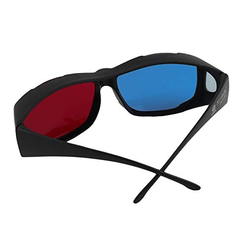Universal Type 3D Glasses//Red Blue Cyan 3D Glasses Anaglyph 3D Plastic Glasses