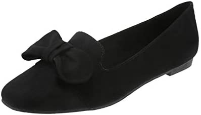 60f3aefdeec57 Christian Siriano for Payless Black Suede Women's Denise Bow Loafer ...