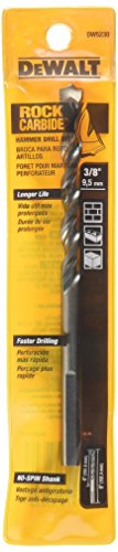 DEWALT DW5230 3/8-Inch x 6-Inch Carbide Hammer Drill Bit Dewalt Carbide Hammer Drill