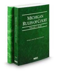 Michigan Rules Of Court  Vol  1   State