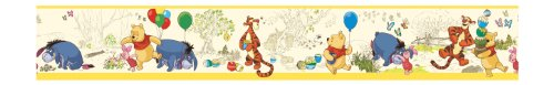 (York Wallcoverings Disney Kids DK5839BD Pooh & Friends Toile Border, Yellow)