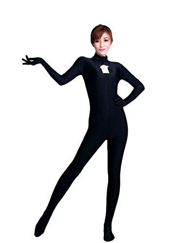 WOLF UNITARD Long Sleeve Unitards Dance Bodysuit Medium Black (Black Bodysuit Costume)
