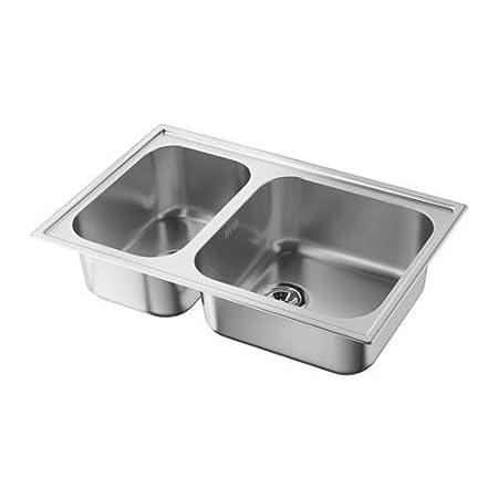 Ikea Boholmen Kitchen Sink 76.5 X 50 X 18u0026nbsp;cm Stainless Steel Bowl  Inset 501.142