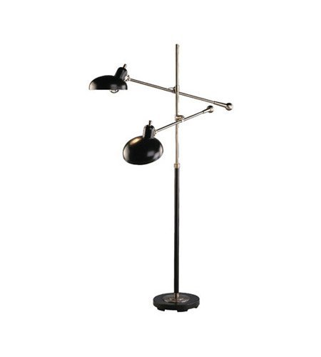 Robert Abbey 1848 Lamps with Lead Bronze Metal Shades, Lead Bronze/Ebonized Nickel Finish