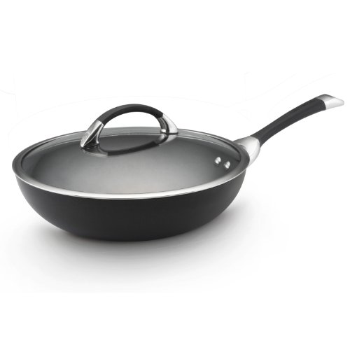 Circulon Symmetry Hard Anodized Nonstick 12-Inch Covered Essentials Pan