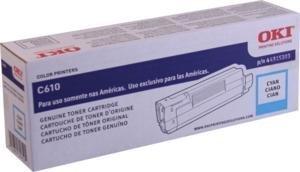 Oki C610 Series Cyan Toner, 6000 Yield - Genuine Orginal OEM (Oki Genuine Cyan Drum)