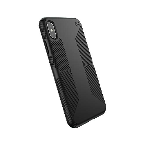 Xs Grip - Speck Products Compatible Phone Case for Apple iPhone XS Max, PRESIDIO GRIP Case, Black/Black