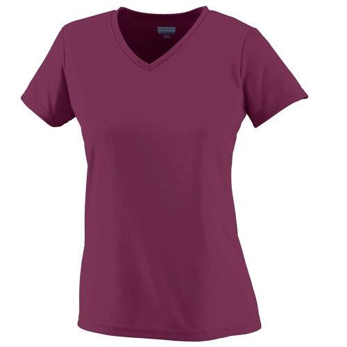Augusta Sportswear Soccer Shirt - Augusta Sportswear WOMEN'S WICKING T-SHIRT 2XL Maroon