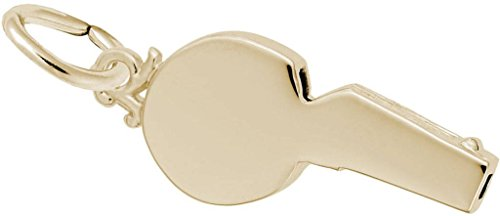 Rembrandt Referees Whistle Charm - Metal - 14K Yellow Gold
