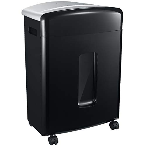 Bonsaii 16-Sheet Micro-Cut Paper/CD/Credit Card Shredder, 20 Minutes Running Time, 60 dB Low Operation Noise, 6.6 Gallons Basket and 4 Casters ()